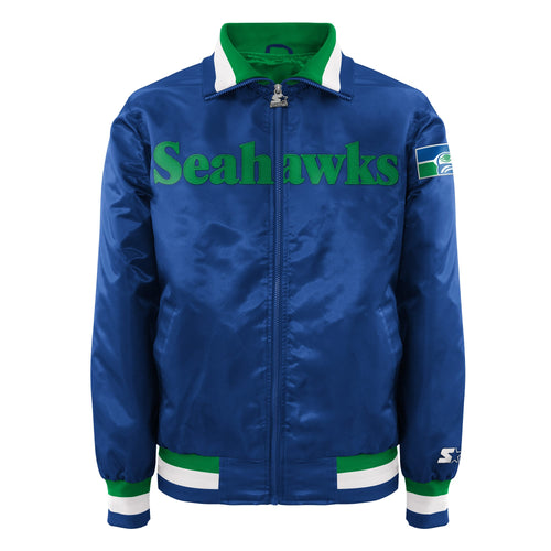 Men's Starter Satin Jacket - Seattle Seahawks