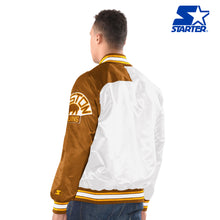 Load image into Gallery viewer, Men's Starter Satin Jacket - Boston Bruins