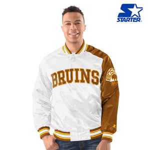 Men's Starter Satin Jacket - Boston Bruins