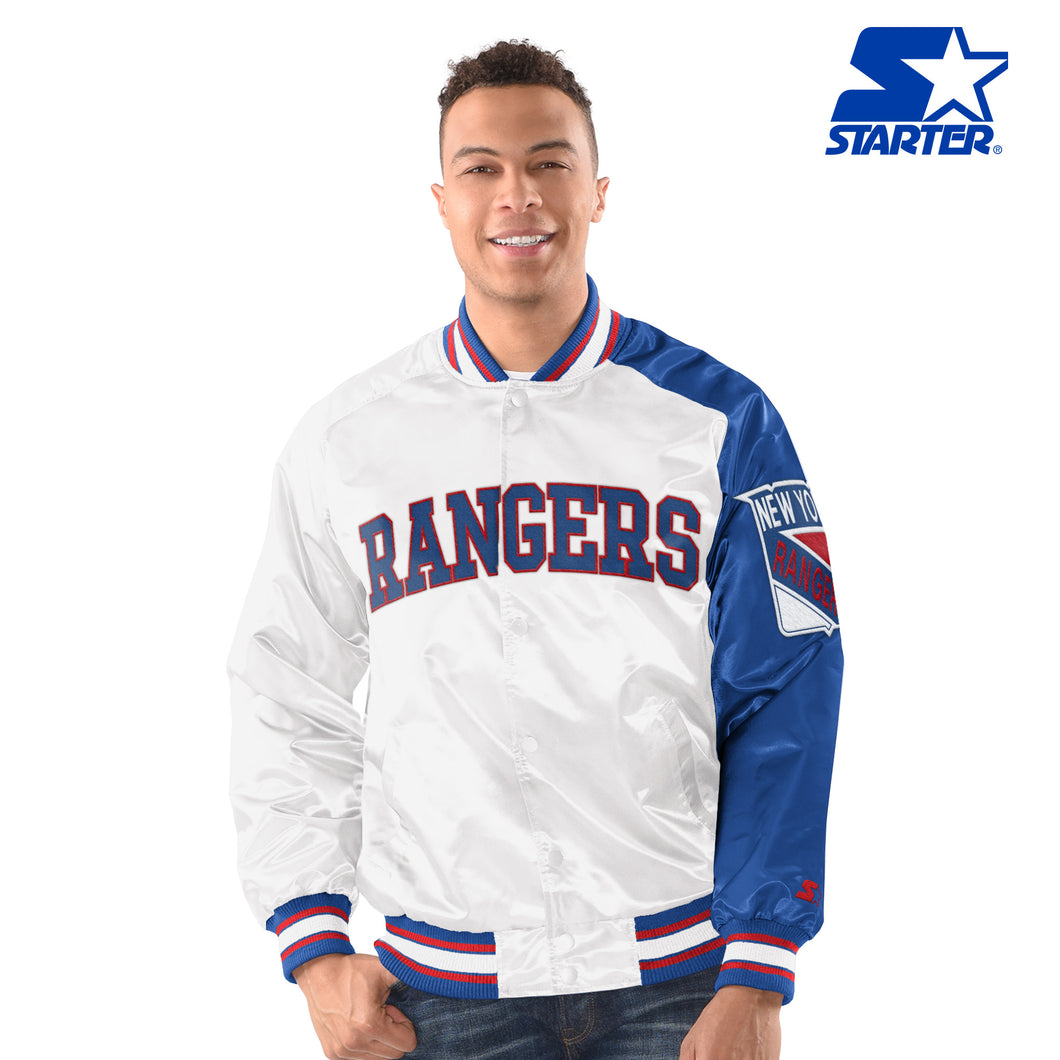 New York Rangers - Men's Vintage Starter Satin Jacket