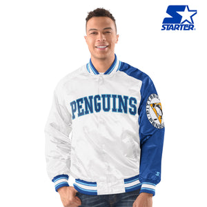 Men's Starter Satin Jacket - Pittsburgh Penguins