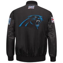 Load image into Gallery viewer, Limited Edition Carolina Panthers Satin Jacket