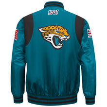 Load image into Gallery viewer, Limited Edition Jacksonville Jaguars Satin Jacket