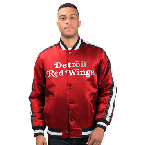 Detroit Red Wings - Men's Starter Satin Jacket