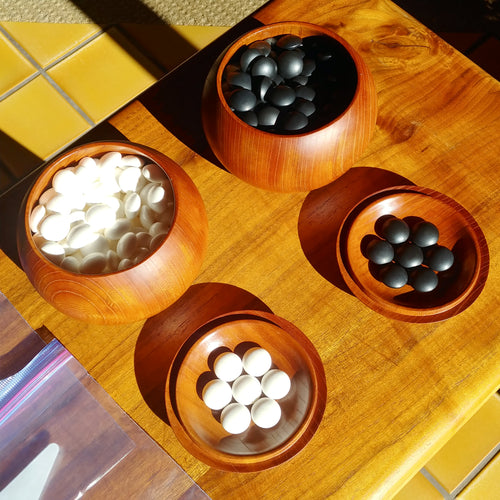 Size 36 Go Stones and Go Bowls Set - Moon - Keyaki - #C019