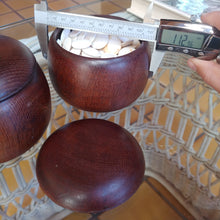 Load image into Gallery viewer, Size 20 Go Stones and Go Bowls Set - Small - Oak? Chestnut? - Slate & Shell - #C027