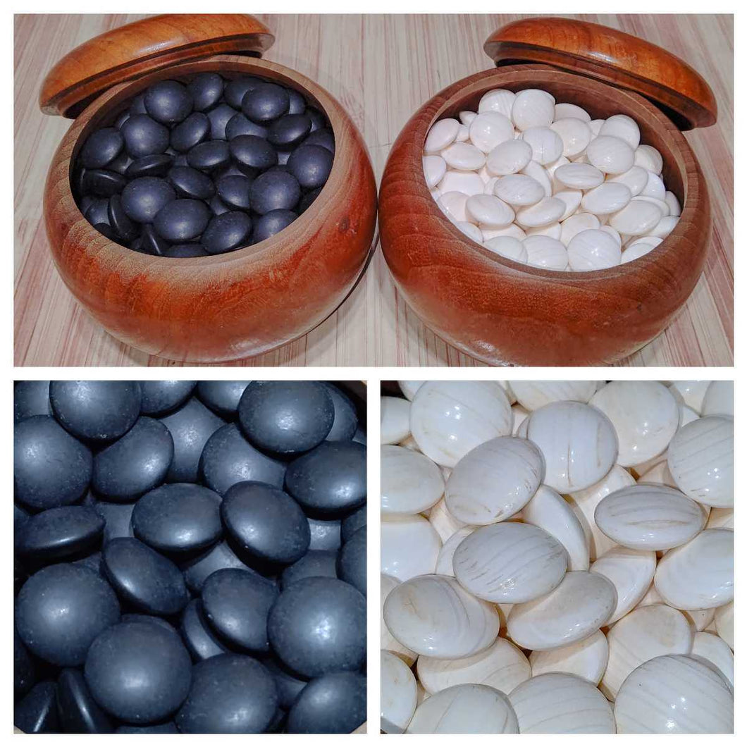 Size 36 Slate & Shell Set - Moon - Mikura Island Mulberry - Free International Shipping - #84294