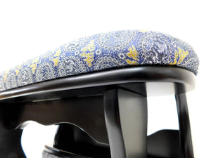 Blue & Gold Hikari Armrests (2) for Floor Boards - Lion / Phoenix - Accessory - 30cm tall, 55cm long, 18cm wide