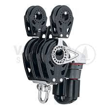 Harken Carbo 57mm 5-sheave block with becket and cleat
