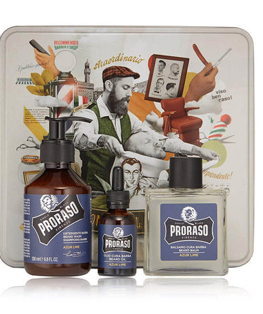 Proraso Azur Lime Beard Care Tin