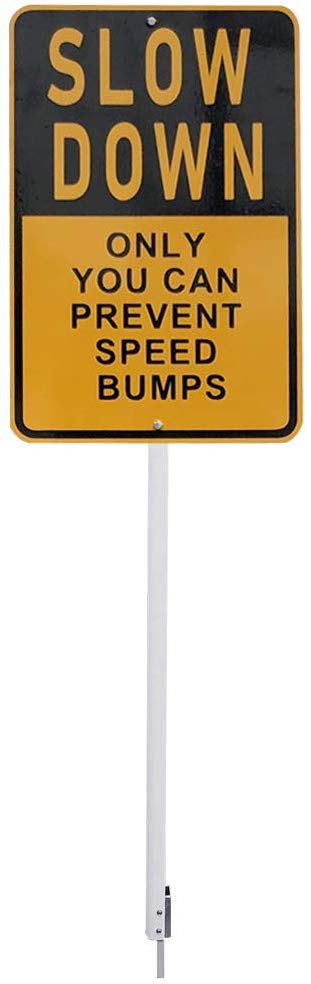 Sign SLOW DOWN