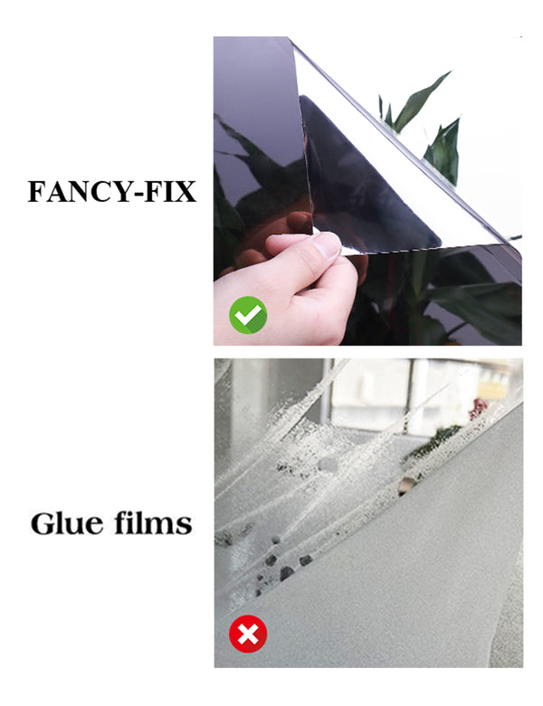 18in x6.56ft 6 Mil Window Film One Way Reflective Mirror Insulation Self Ahesive Glass Sticker
