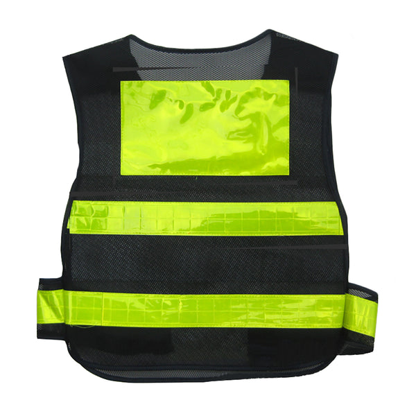 High Visibility Mesh Safety Vest Black