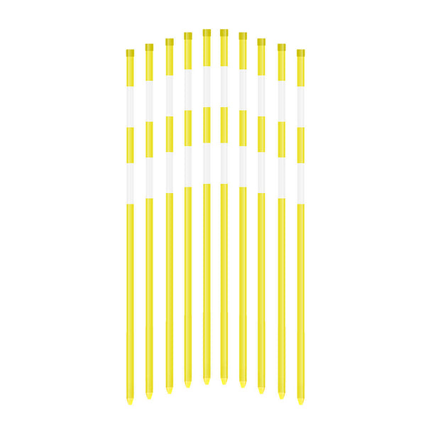 "5Ft x 5/16"" Snow Stakes- 2 Reflective Tape Solid"
