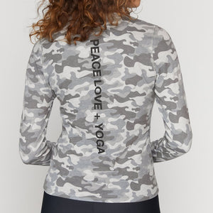 Spiritual Gangster Yoga Active Long Sleeve Camo Print