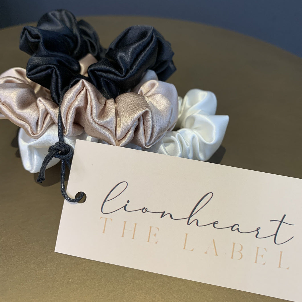 Lionheart The Label Set of 3 'Neutrals' Silk Midi Scrunchies
