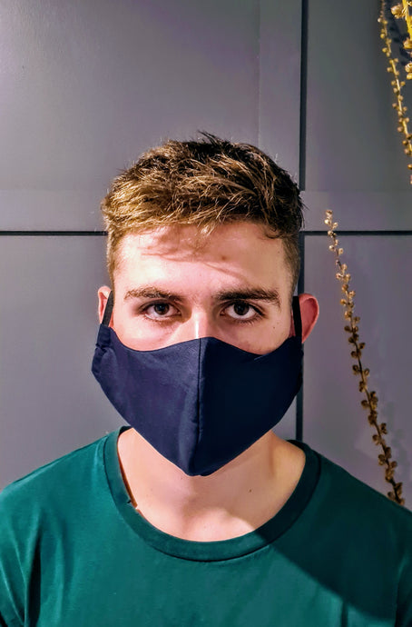 Washable Face Mask - Mens - Deep Navy