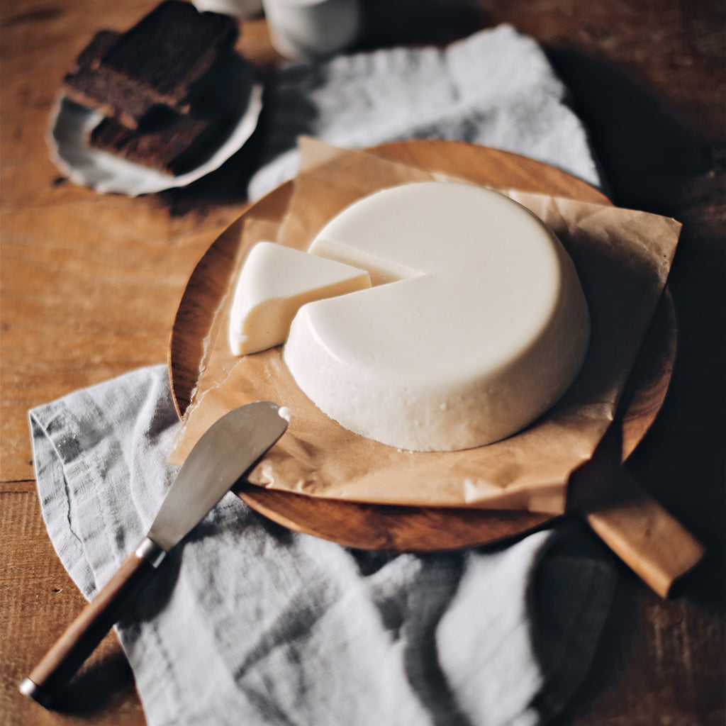 Our signature coconut cheese, one of the foundational recipes that the Real Coconut is built on.