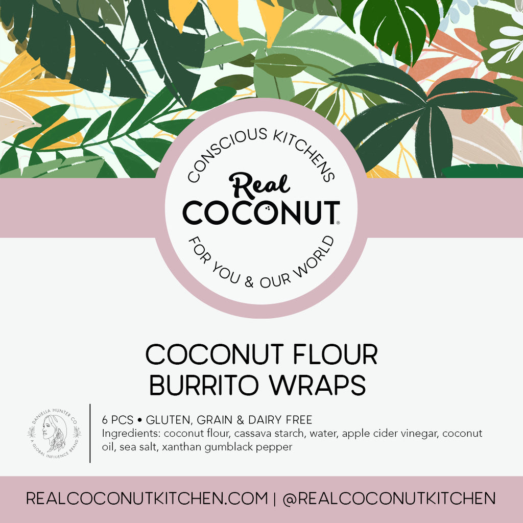 We're taking our Real Coconut tortillas and wraps to the next level with these giant burrito size wraps.  Available exclusively through our Real Coconut Market, if you like them, we'll be looking to release them nationwide!