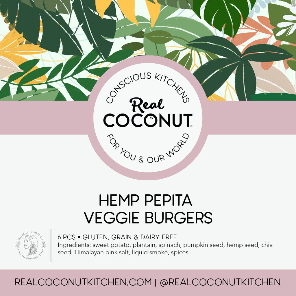Veggie Burgers made with Hemp Pepita