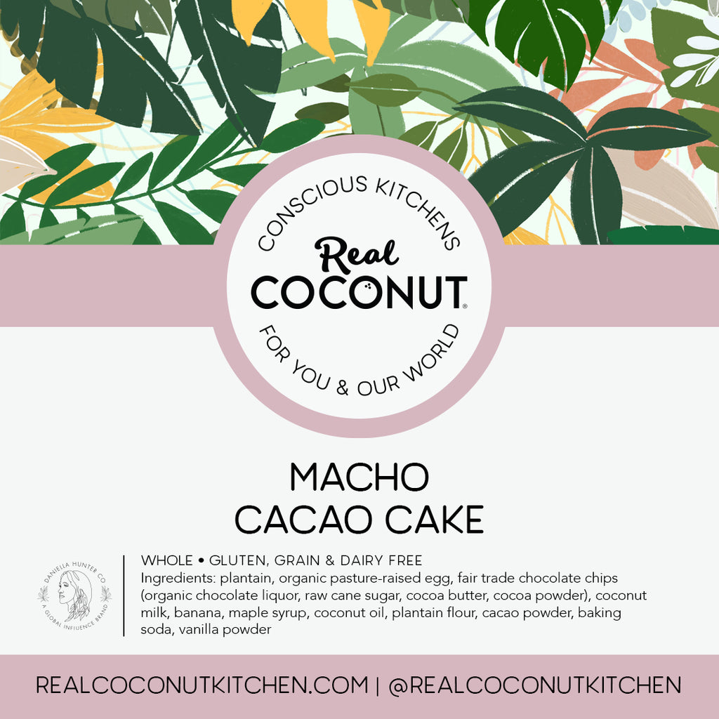 Macho Cacao Cake - Iced. Buy Online From Real Coconut Market - Malibu, CA