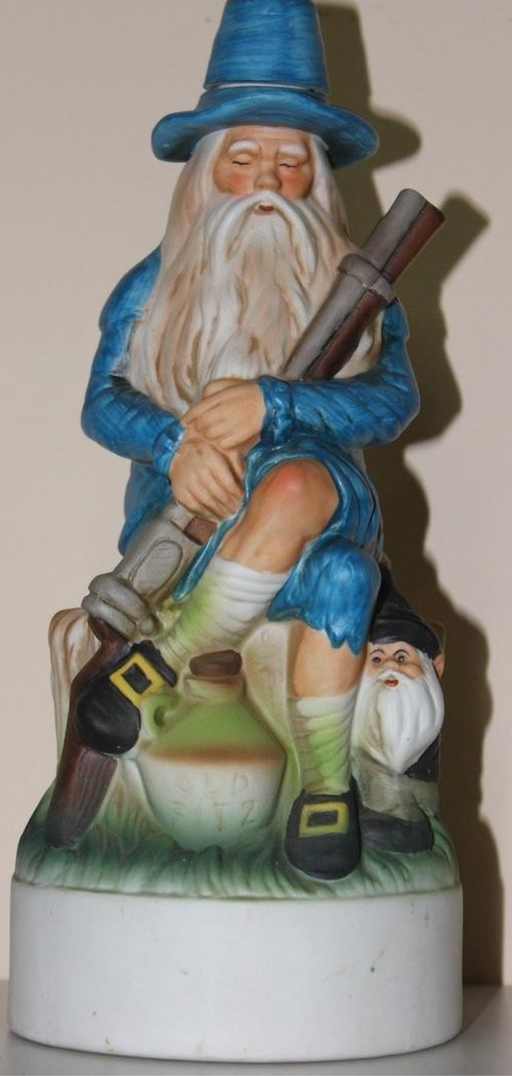 VERY RARE Old Rip Van Winkle Bourbon Whiskey Porcelain Decanter 1971