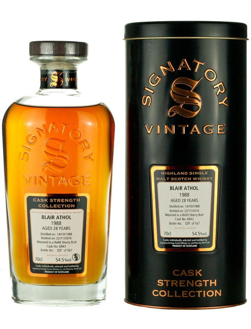 Blair Athol 28 Years Old 1988 - Signatory Vintage Cask Strength Collection