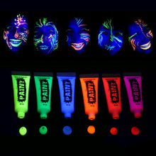 Load image into Gallery viewer, glow in the dark UV Neon face paint UV glow blacklight body paint
