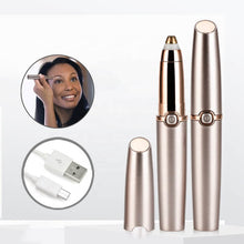 Load image into Gallery viewer, USB Rechargeable Mini Electric Eyebrow Trimmer