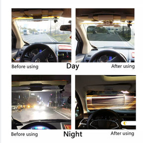 Anti glare day and night vision car sun-shield
