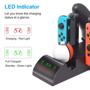 Charging Dock and Multi-Function Organizer for Nintendo Switch
