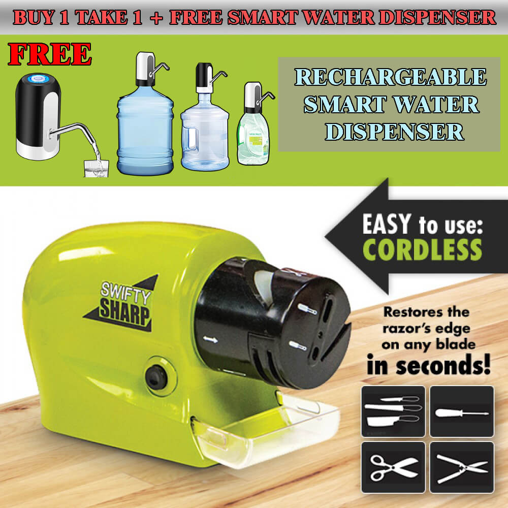 Knife Sharpener ( BUY 1 TAKE 1) + FREE Portable Rechargeable Water Dispenser!