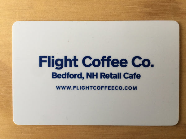 Flight Gift Card for Bedford, NH Cafe/Roasting lab only