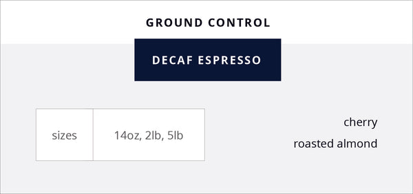 Ground Control Decaf Espresso