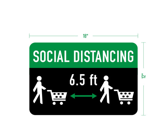 6ft Social Distancing Sign