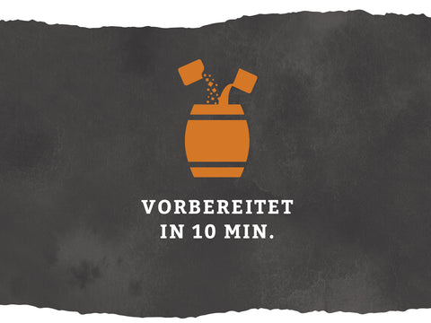 vorbereitet in 10 Minuten