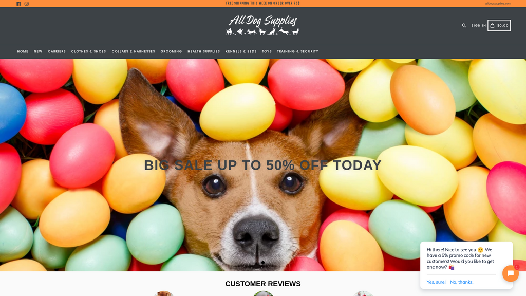Pets Shopify Store Dropship Ecommerce Website