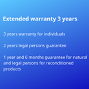 Extended warranty 3 years