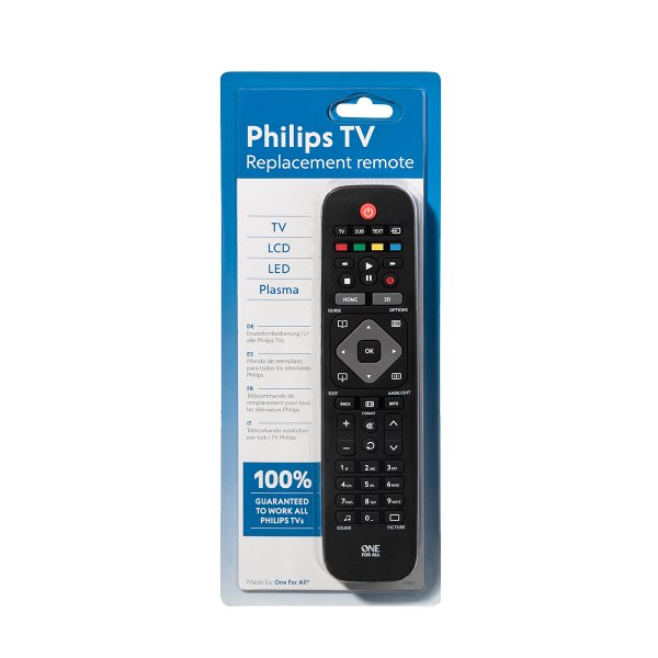 ONE FOR ALL remote control for PHILIPS TV