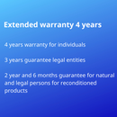 Extended warranty 4 years