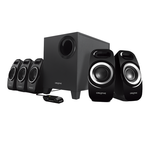 CREATIVE Surround 5.1 Inspire T6300 Speakers Black