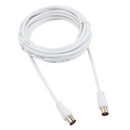 CABLEXPERT coaxial antenna extension cable 5 meters White