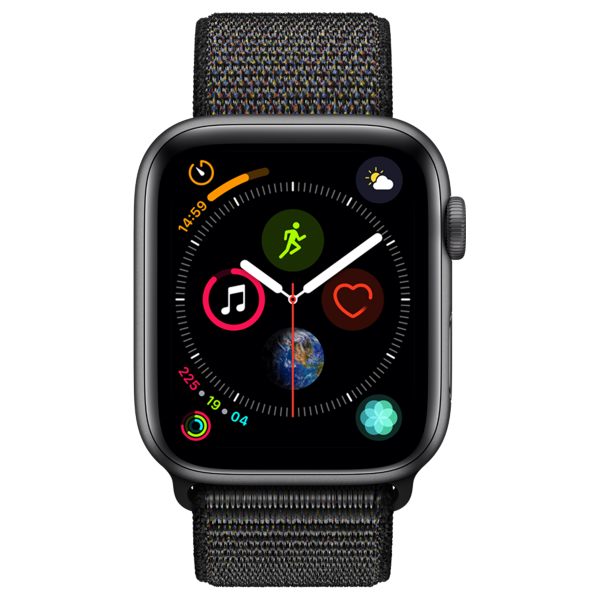 APPLE Watch Series 4 GPS 44mm Space Grey Aluminium  Sport Band