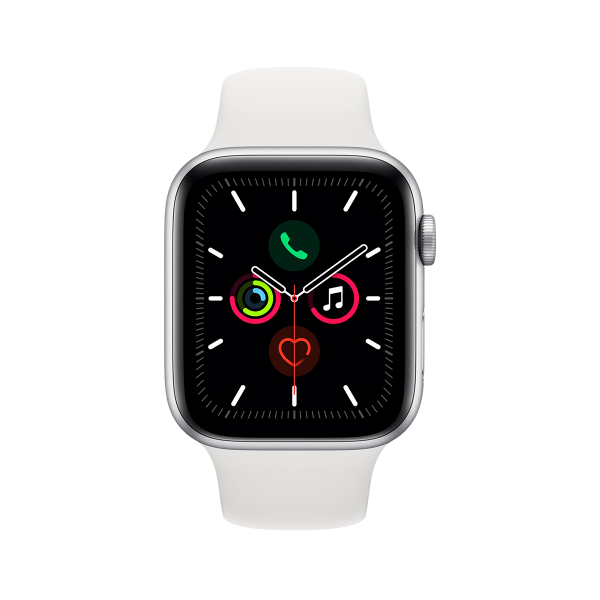 APPLE Watch Series 5 GPS 44mm Silver Aluminium με Sport