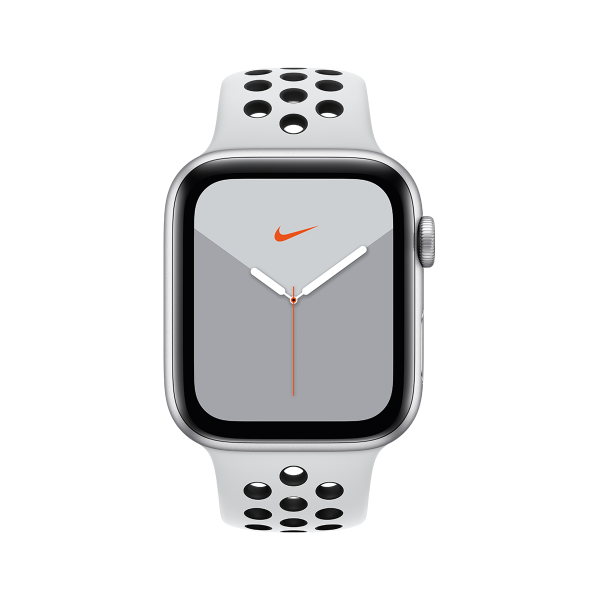 APPLE Watch Series 5 Nike GPS 44mm Silver Aluminium Sport Band Platinum