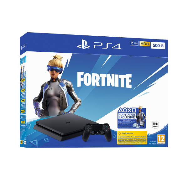 PS4 500GB + Fortnite voucher 2019