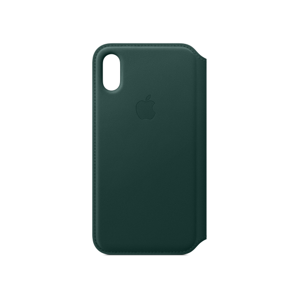Leather Case APPLE Folio iPhone Xs Green