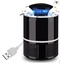 USB Powered LED Lighting Trap Mosquito Killer Lamp - Black