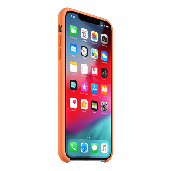 APPLE iPhone Xs Silicone Case Light Orange