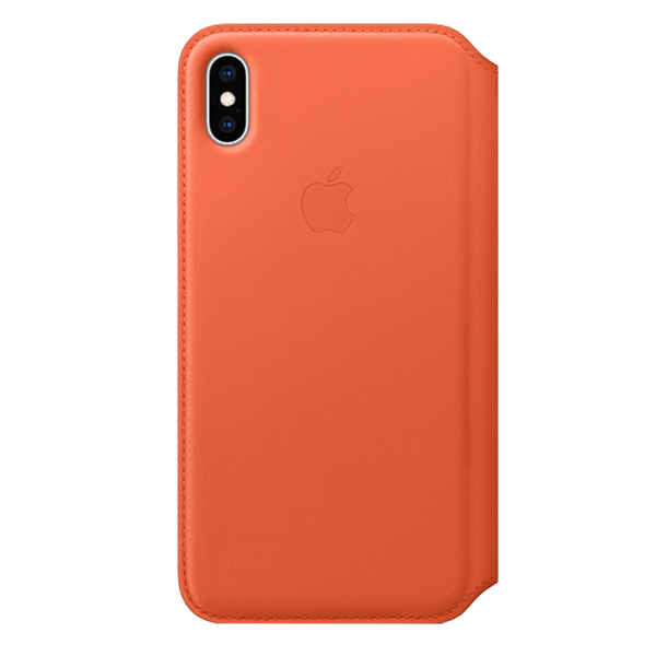 Folio APPLE Leather Case iPhone Xs Max Orange